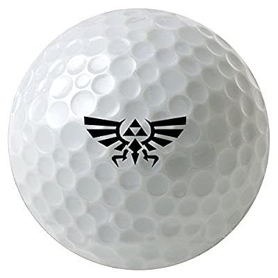 Legend Of Zelda Triforce Crest Art 3-Pack Printed Golf Balls