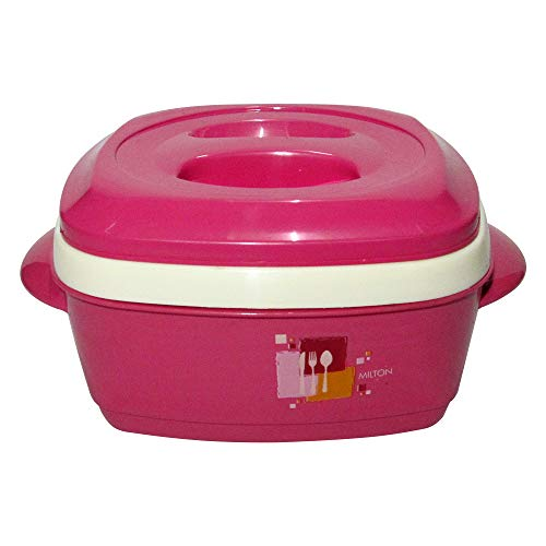- Milton Milano, 1000ML Exclusive Squre Designed Food Warmer, Insulated Casserole (Pink)