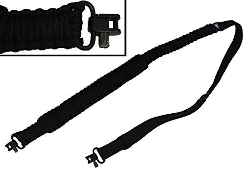 Ultimate Arms Gear 550 lb Paracord Survial Shoulder Harness Strap Sling, Black Over 56' ft Parachute Cord with Swivels for Beretta CX4 Rifle by Ultimate Arms Gear