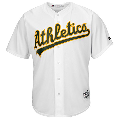 Oakland Athletics Youth Cool Base Home Team Jersey White (Large)