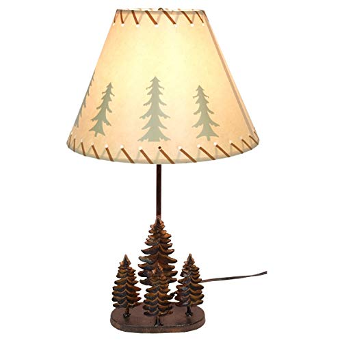 Cast Iron Pine Tree Forest Metal Table Lamp 24 1/2 Inches High (Pine Cone Lamp)