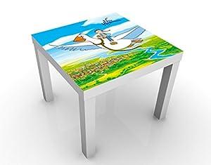 Apalis Tavolino Design Nils Holgersson - Wonderful Adventures 55x55x45cm, Tischfarbe:Schwarz;Größe:55 x 55 x 45cm
