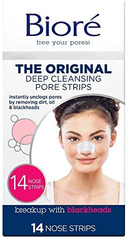 Bioré Original, Deep Cleansing Pore Strips, 14 Nose Strips for Blackhead Removal with Instant Pore Unclogging