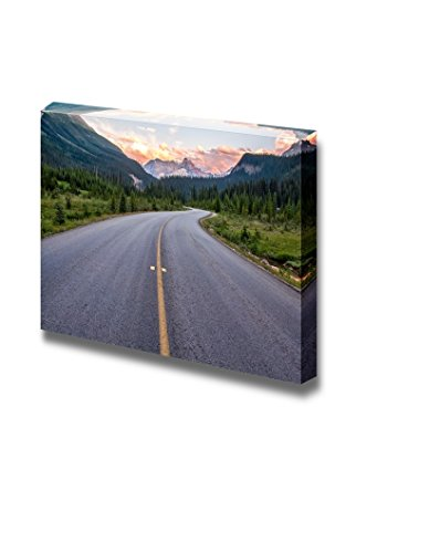 Winding Road That Leads to Beautiful Sunset Lit Mountains Home Deoration Wall Decor ing