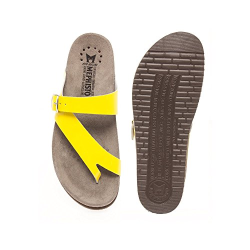 Mephisto Women (Foot Foundation) Helen Women's Sandal In Yellow Patent Leather 577 YELLOW PAT Bx0EA