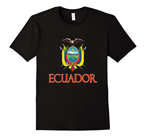 Mens Ecuador - Coat of Arms of Ecuador 2XL Black - Ecuador Coat