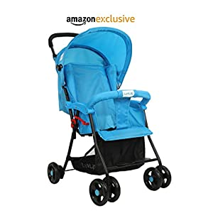 LuvLap Apollo Stroller/Pram, Easy Fold, for Newborn Baby/Kids, 0-3 Years (Blue)