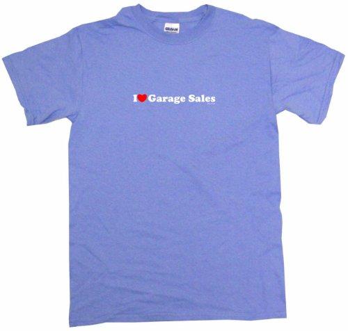 I Heart Love Garage Sales Women's Regular Fit Tee Shirt XXXL-Light Blue