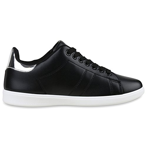 Japado - Zapatillas Mujer negro/plateado