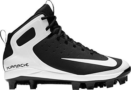 online retailer 97f1a daffe Nike Men s Alpha Huarache Pro Mid Baseball Cleats(Black White, 6.5 D(M) US)