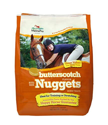 Horse Nugget - Manna Pro Butterscotch Bite Size Nuggets, 4 Lb