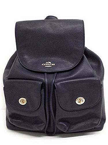Coach Pebbled Leather Backpack F37410 Black