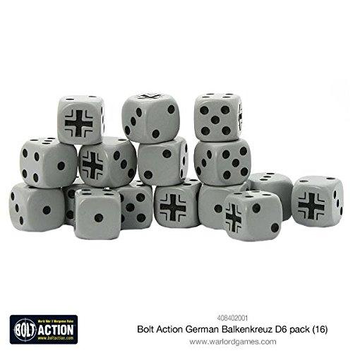 - Bolt Action German Balkenkreuz D6 - 16 Pack Dice