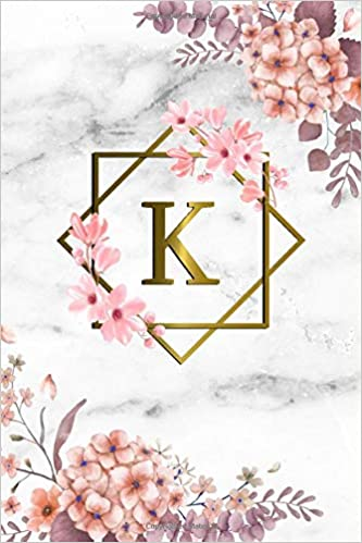 K: Cute Initial Monogram Letter K College Ruled Notebook. Pretty ...