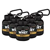 On My Whey - Portable Protein and Supplement Powder Funnel Key-Chain - Classic 5-Pack