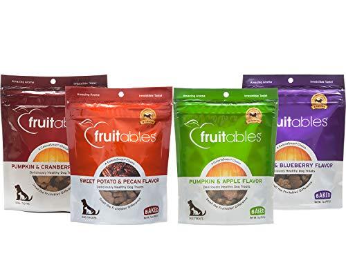 - Fruitables Pumpkin Dog Treats, Variety Pack of 4