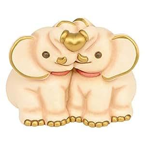 Thun animali coppia elefanti ceramica variopinto amazon for Saldi thun amazon