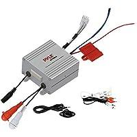 Pyle Compact Marine Amplifier Kit - Waterproof Rated 2-Channel Audio Amp | AUX/RCA/MP3 Input | Speaker Wiring | Volume Control | 600 Watt MAX (PLMRMP2A)