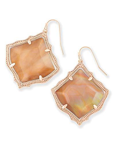 Kendra Scott Kirsten Drop Earrings In Brown Pearl ()