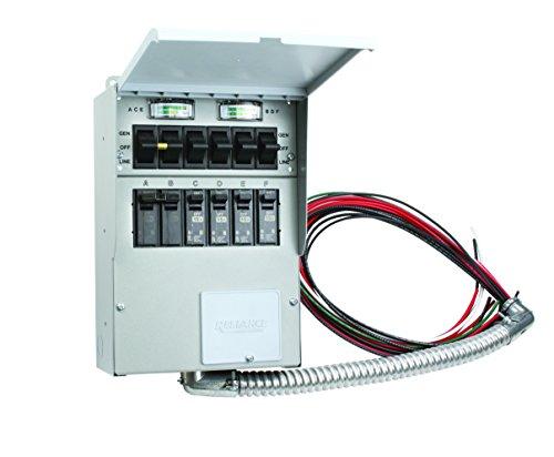 A306C Pro/Tran2 30-Amp 6-Circuit 2 Manual Transfer Switch