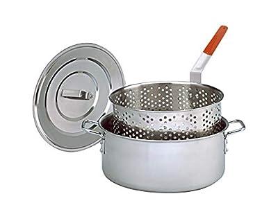 King Kooker KK2S Stainless Steel Deep Fry Pan with Lid