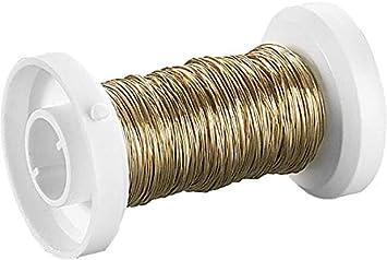 24 Karat Echt Vergoldet Durchmesser 0,25 mm 35 m Knorr Prandell 216465765 Golddraht mit Kupferkern