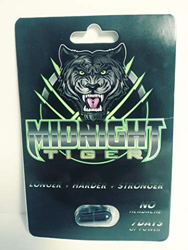 Midnight Tiger V2, Unleash Your Beast, All Natural Male Energy, Single Pack (1)