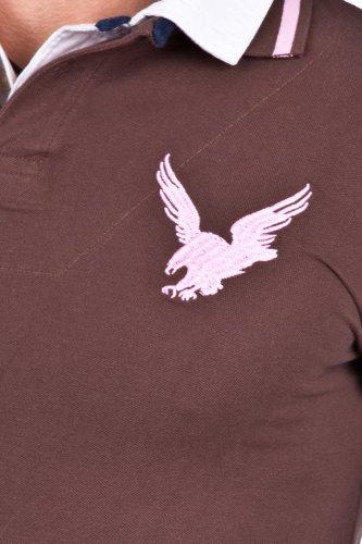 Legend & Soul Herren kurzarm Poloshirt PP42-Choco