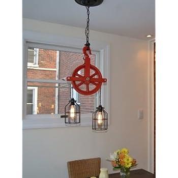 pulley lighting. Red Barn Pulley Light Lighting E
