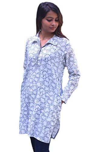 Ayurvastram Madhuri Hand Block Printed Shirt Tunic, Top, Kurti, Blouse