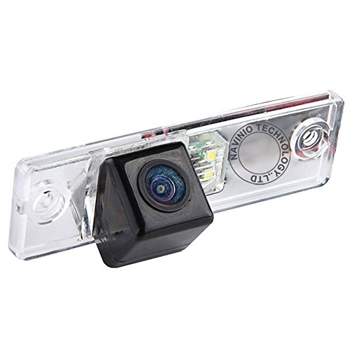 Navinio Waterproof High Definition Color Wide Viewing Angle License Plate Car Rear View Camera with Night Vision for 4 Runner/Land Cruiser 150-Series Prado/Fortuner/SW4 (HD camera) ()