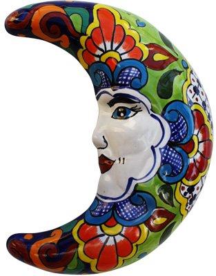 Fine Crafts Imports Mexican Talavera Ceramic Moon Face