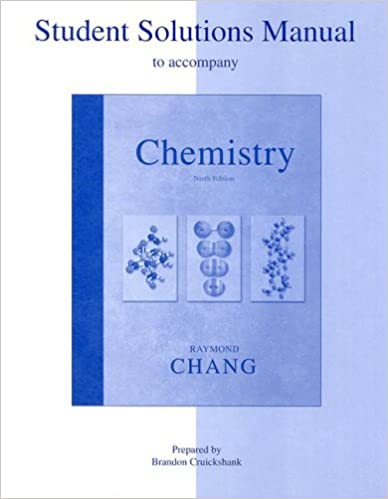 Student Solutions Manual To Accompany Chemistry Raymond