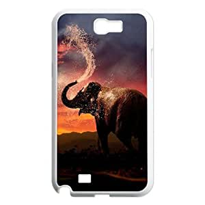 Bathing Elephant Personalized Cover Case with Hard Shell Protection for Samsung Galaxy Note 2 N7100 Case lxa#844625