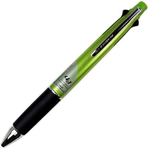 Green Barrel Body - Uni Jetstream Multi Function Pen, 4 Color Ballpoint Pen - Light Green Barrel (MSXE510007.6)