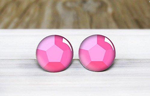 Rose Quartz Gemstone Earrings - Hypoallergenic Earrings for Sensitive Ears