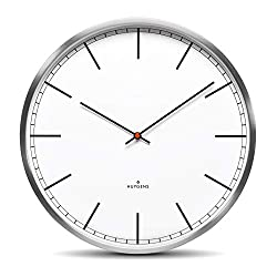 Huygens One45 White Index Wall Clock | Stainless Steel