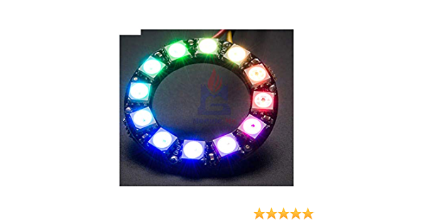 1pc 16 Bit RGB LED Ring WS2812 5050 RGB LED Integrated Drivers For Arduino E/_ec