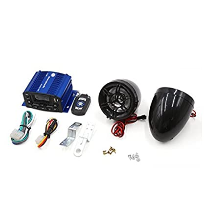 eDealMax 2pcs Negro Azul antirrobo del USB MP3 del altavoz del amplificador de Audio estéreo DC