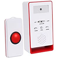 InnoGear One Remote Call Button Wireless Caregiver Personal Pager Nurse Call Alert-Red