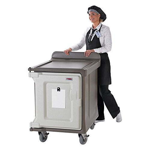 Cart Meal Delivery (Cambro MDC1520S10HD194 Granite Sand Low Profile 10-Tray Meal Delivery Cart with Heavy Duty Casters)