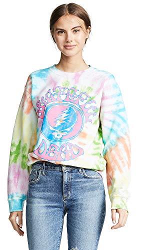 MADEWORN ROCK Women's Grateful Dead Tie Dye Sweatshirt, Tie Dye, Graphic, Small