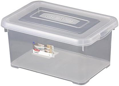 Curver Caja con tapa 6L transparente multiusos caja caja caja decorativa plástico: Amazon.es: Hogar