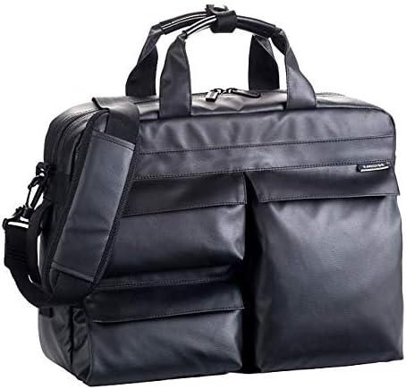 平野鞄 ビジネスバッグ ビジネスリュック メンズ ビジネストート ショルダーバッグ B4 A4 ショルダー付き PC収納 防水 撥水 軽量 ブリーフケースル 2WAY 黒 ブラック 通勤 ビジネス 横幅38cm +オリジナル高級ムートングローブ