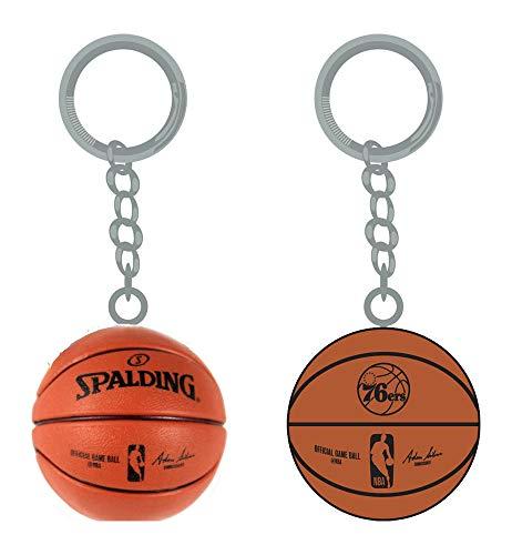 PSG INC NBA Philadelphia 76ers Sports Team Logo Mini Basketball Keychains
