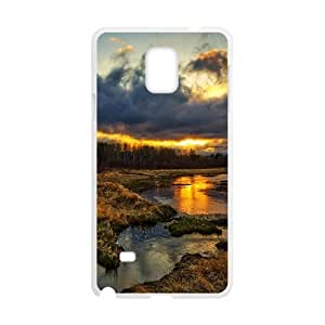 Clouds Sky And River White Phone Case for Samsung Galaxy Note4