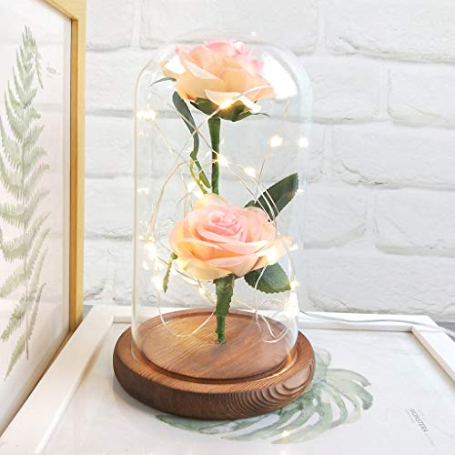 FZZ698 New Technology!Romantic Glass Rose Wedding Decoration