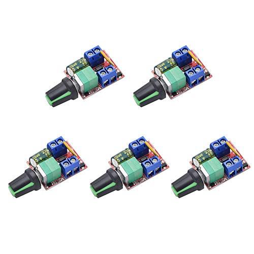 - Onyehn DC Motor PWM Speed Controller 3V 6V 12V 24V 35V Speed Control Switch Mini LED Dimmer 5A 90W(Pack of 5pcs)