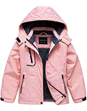 Girl's Waterproof Ski Jacket Warm Winter Fleece Snow Coat Windproof Snowboarding Rain Jacket