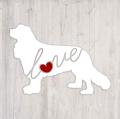 - Cavalier King Charles Spaniel Love - Car Window Vinyl Decal Sticker (Script Font)